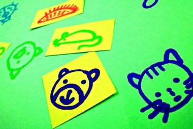 Мордочки животных, нарисованные фломастерами