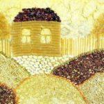 Деревенский домик из крупы и макарон