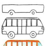 Схема рисования автобуса