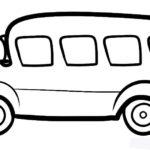 Шаблон автобуса с выдающимся вперёд капотом с округлыми формами