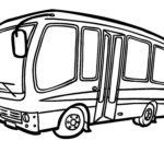 Шаблон автобуса с двойными автоматическими дверями