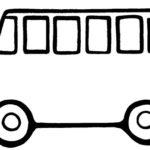 Шаблон автобуса с выдающимся вперёд капотом