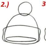 Схема рисования шапки