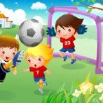 Изображение детей, играющих в футбол