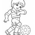 Шаблон ребёнок-футболист