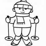 Шаблон лыжник
