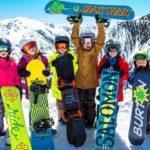 Дети со сноубордами