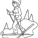 Шаблон лыжника