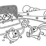 Шаблон смешарики играют в футбол