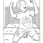 Шаблон радостный футболист