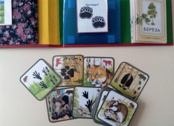 Карточки для игры Чьи это следы