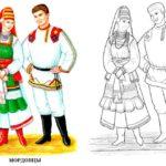 Раскраска Мордовцы