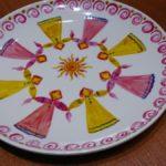 Расписная тарелка на Масленицу