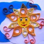 Поделка «Солнышко», выполненная техникой квиллинг