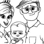 Раскраска Мама, папа ребёнок