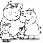 Раскраска Семья Свинки Пеппы