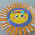 Объёмное солнышко из диска