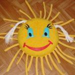 Подушка в виде солнышка