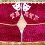 Лэпбук Театр с двумя масками на фоне занавеса