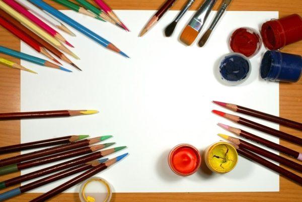 Материалы для рисования в старшей группе