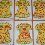 Рисование платья пальчиками