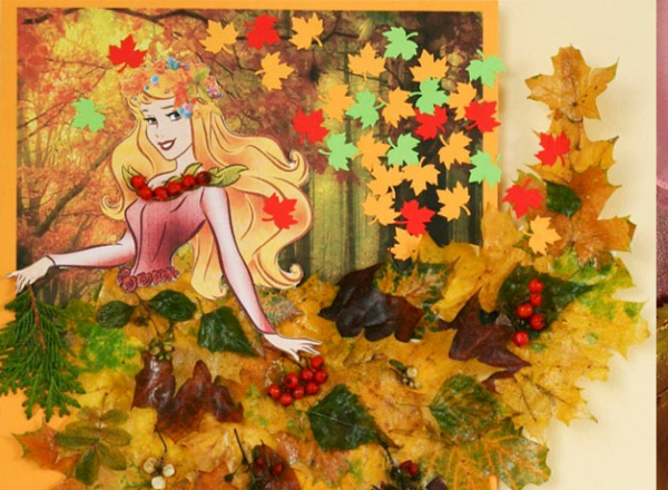 Нарядное платье из листьев и ягод