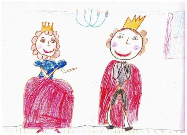 Принц и принцесса в нарядной одежде