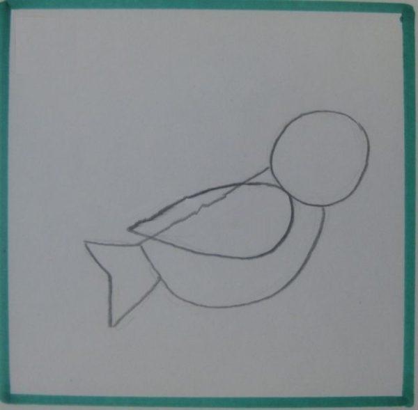 Нарисовано крылышко