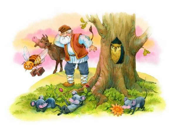 Иллюстрация к сказке В. Бианки «Сова»
