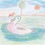 Серая Шейка на озере
