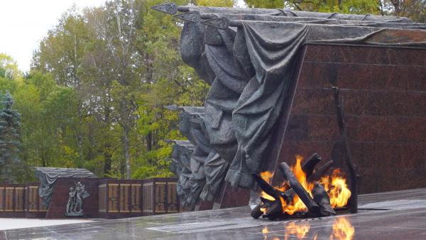 Вечный огонь на Партизанской поляне в г. Брянске