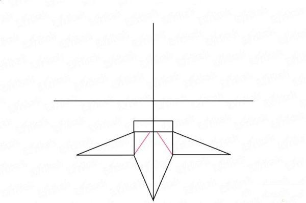 На бумаге начерчен крест, в нижней его части нарисованы три луча звезды-постамента