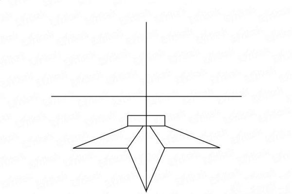 Готовый постамент звезды, лишние линии удалены