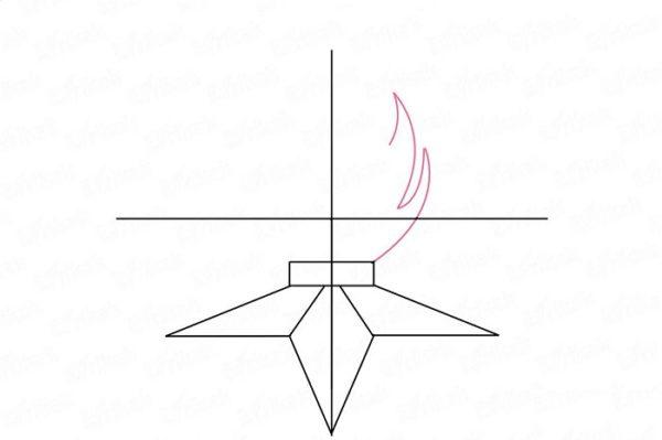 Начиная от края постамента нарисованы языки пламени