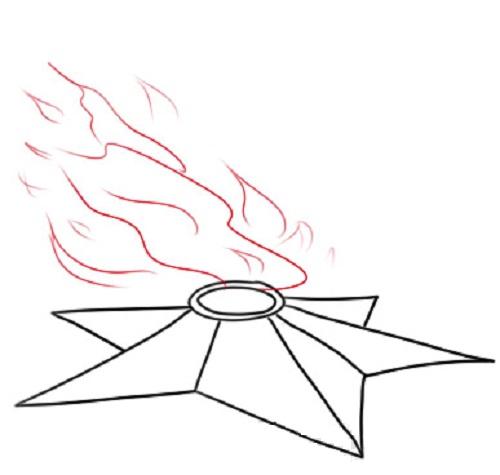 Готовый рисунок Вечного огня