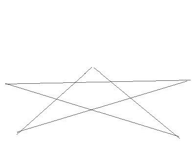 Нарисована пятиконечная звезда