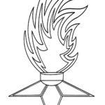 Вечный огонь с многослойным пламенем