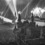 Салют на Параде Победы в 1945