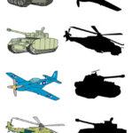 Игра Найди тень: первые танк и тень смаолёта