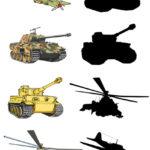 Игра Найди тень: первые самолёт и тень танка