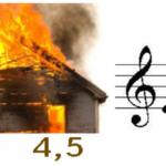 Пылающий дом, нота ми, буква я