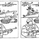 Военный, танк и корабль