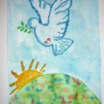 Голубь мира над планетой Земля