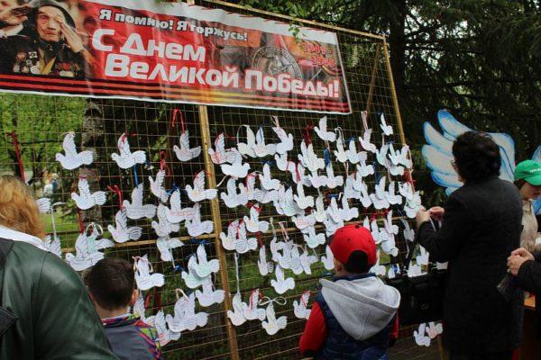 Акция «Голубь мира» на 9 мая в одном из российских городов