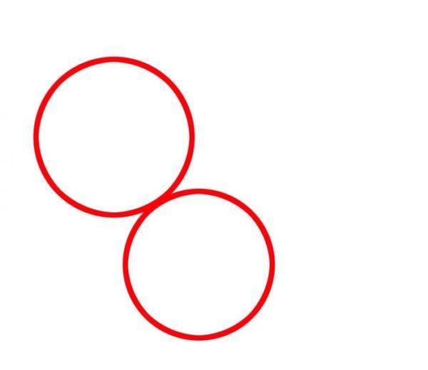 Два круга, расположенных рядом