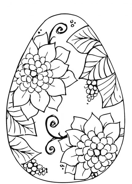 Шаблон раскраски крашеного яйца