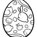 Шаблон пасхального яйца со зверушками