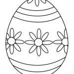 Шаблон пасхального яйца с цветами