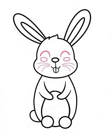 У кролика прорисована мордочка