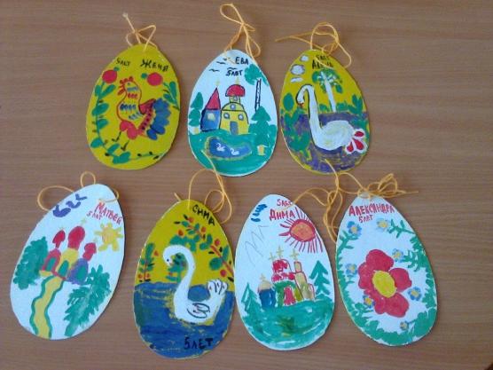 Яйца, расписанные сюжетной картинкой